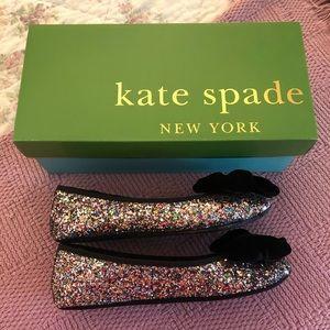 Kate Spade Sussex Multi Plush Glitter Slippers